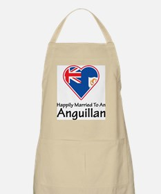 Happily Married Anguillan BBQ Apron