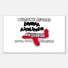 Emma Airlines Rectangle Decal