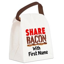 Share Bacon With Canvas Lunch Bag