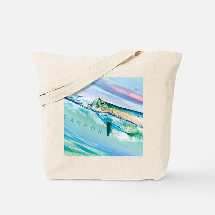 Cute Tarpon fishing Tote Bag