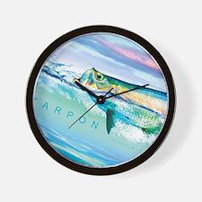 Cute Mullet fishing Wall Clock