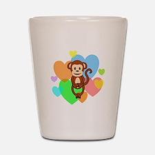 Monkey Hearts Shot Glass