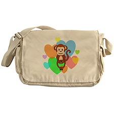 Monkey Hearts Messenger Bag