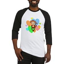 Monkey Hearts Baseball Jersey