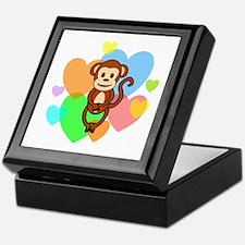 Monkey Hearts Keepsake Box