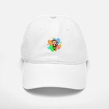 Monkey Hearts Baseball Baseball Cap