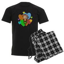 Monkey Hearts Pajamas