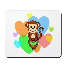 Monkey Hearts Mousepad