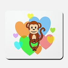 Monkey Hearts Mousepad
