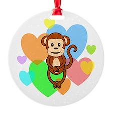 Monkey Hearts Ornament