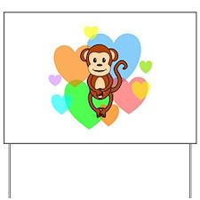Monkey Hearts Yard Sign