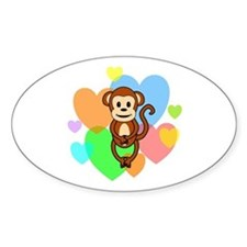 Monkey Hearts Decal