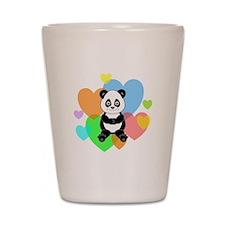 Panda Hearts Shot Glass