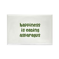 happiness is eating asparagus Rectangle Magnet