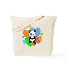 Panda Hearts Tote Bag