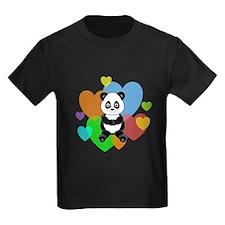 Panda Hearts T