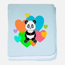 Panda Hearts baby blanket