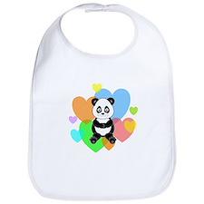 Panda Hearts Bib