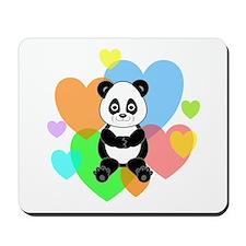 Panda Hearts Mousepad