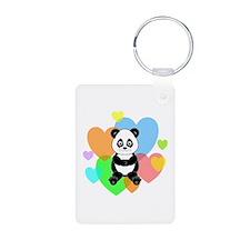 Panda Hearts Keychains
