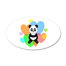 Panda Hearts Decal Wall Sticker