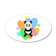 Panda Hearts Wall Decal