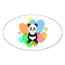 Panda Hearts Decal