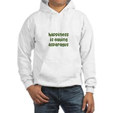 happiness is eating asparagus Hoodie