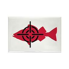 Fishing hunter crosshairs Rectangle Magnet