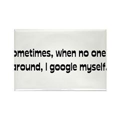 Google Myself Rectangle Magnet