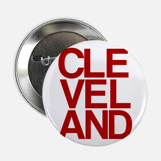 "Cleveland Red Bold Typographic 2.25"" Button"