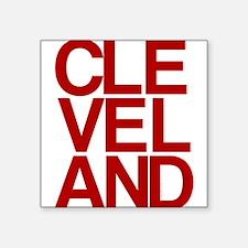 Cleveland Red Bold Typographic Sticker