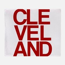 Cleveland Red Bold Typographic Throw Blanket
