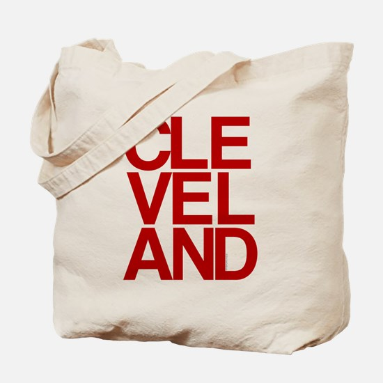 Cleveland Red Bold Typographic Tote Bag