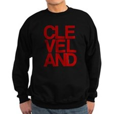 Cleveland Red Bold Typographic Sweatshirt