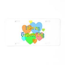 Guinea Pig Hearts Aluminum License Plate