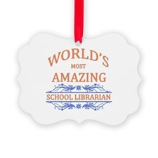 School Librarian Ornament