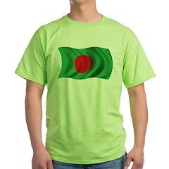 Wavy Bangladesh Flag T-Shirt