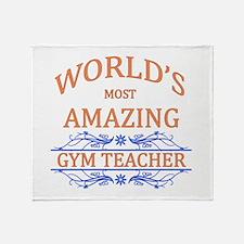 Gym Teacher Throw Blanket