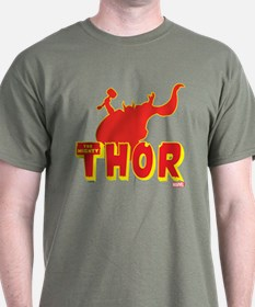 Thor Red Silhouette T-Shirt