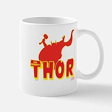 Thor Red Silhouette Mug