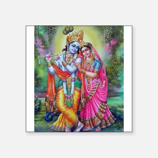 "Unique Hindu Square Sticker 3"" x 3"""