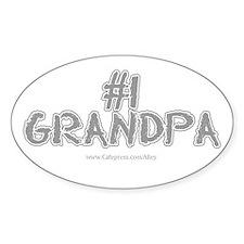 #1 Grandpa Oval Decal