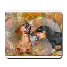 Candy Stars Dachshund Dogs Mousepad