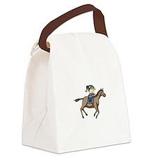 Equestrian Rider Canvas Lunch Bag