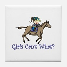 Girls Cant What Tile Coaster