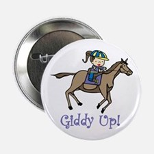 """Giddy Up 2.25"""" Button"""