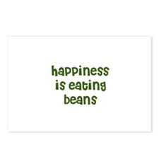 happiness is eating beans Postcards (Package of 8)