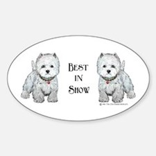 Best Westhighland Terrier Oval Decal