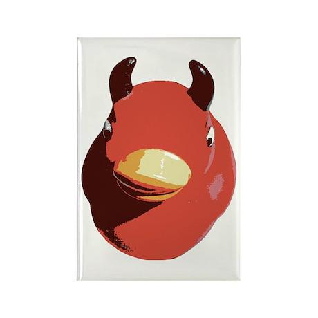 Evil Rubber Ducky Rectangle Magnet (100 pack)